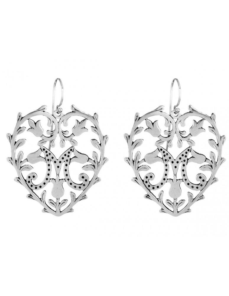 Ex-voto sterling silver earrings