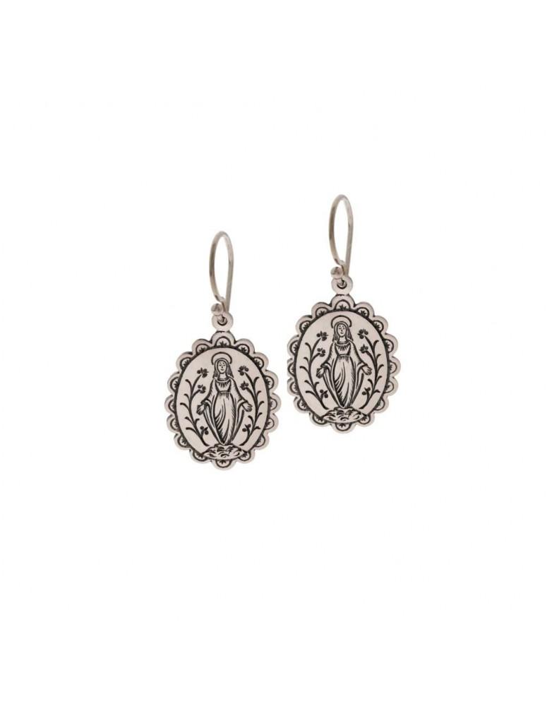 Orecchini mammasantissima in argento
