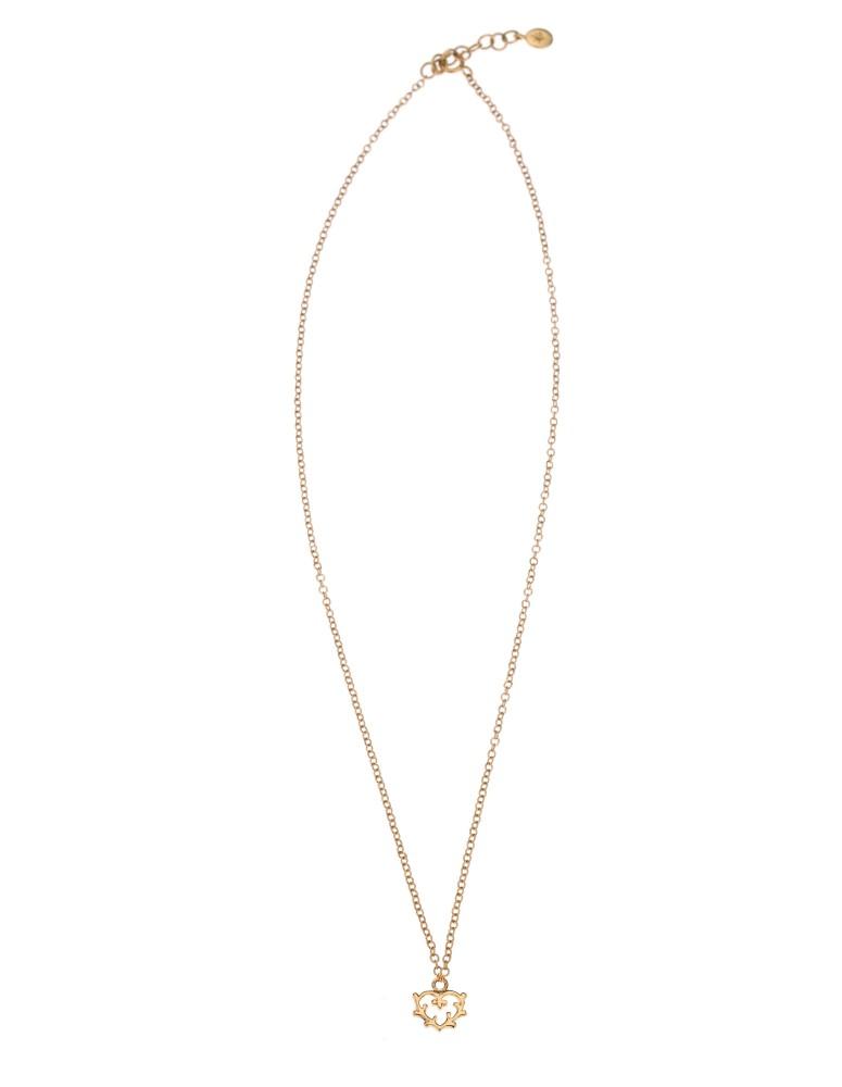 Girocollo mini cuore ramage oro rosa