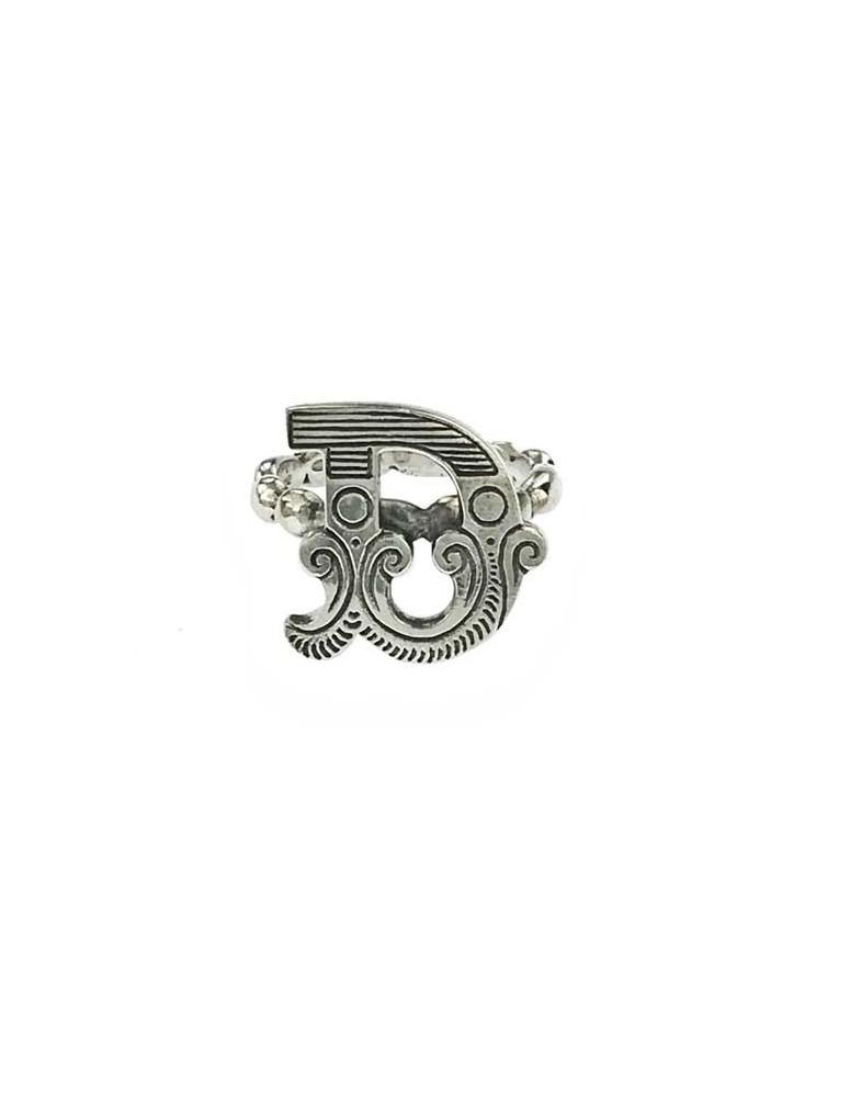 Anello iniziale carosello argento - D