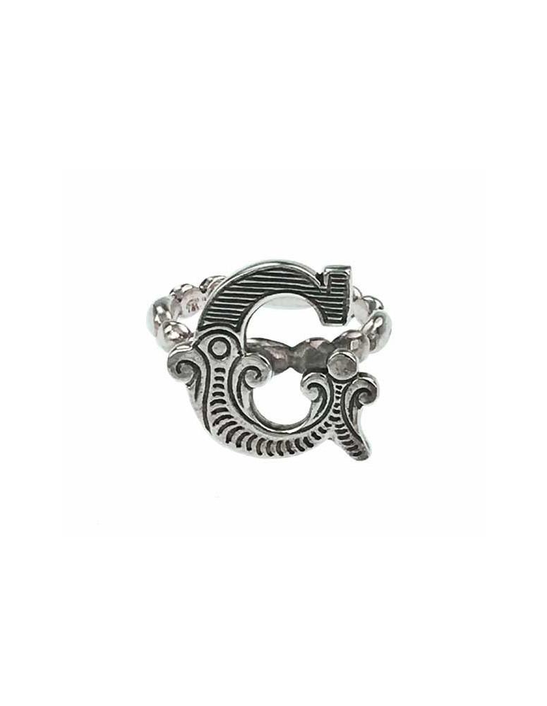Anello iniziale carosello argento - G