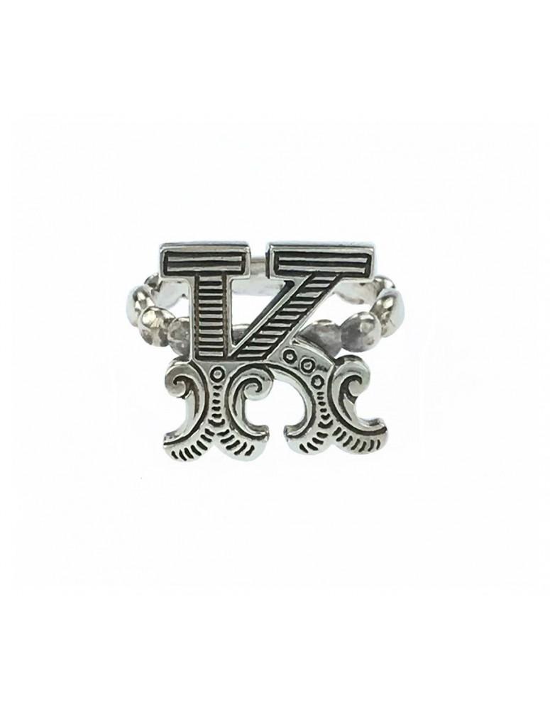 Anello iniziale carosello argento - K