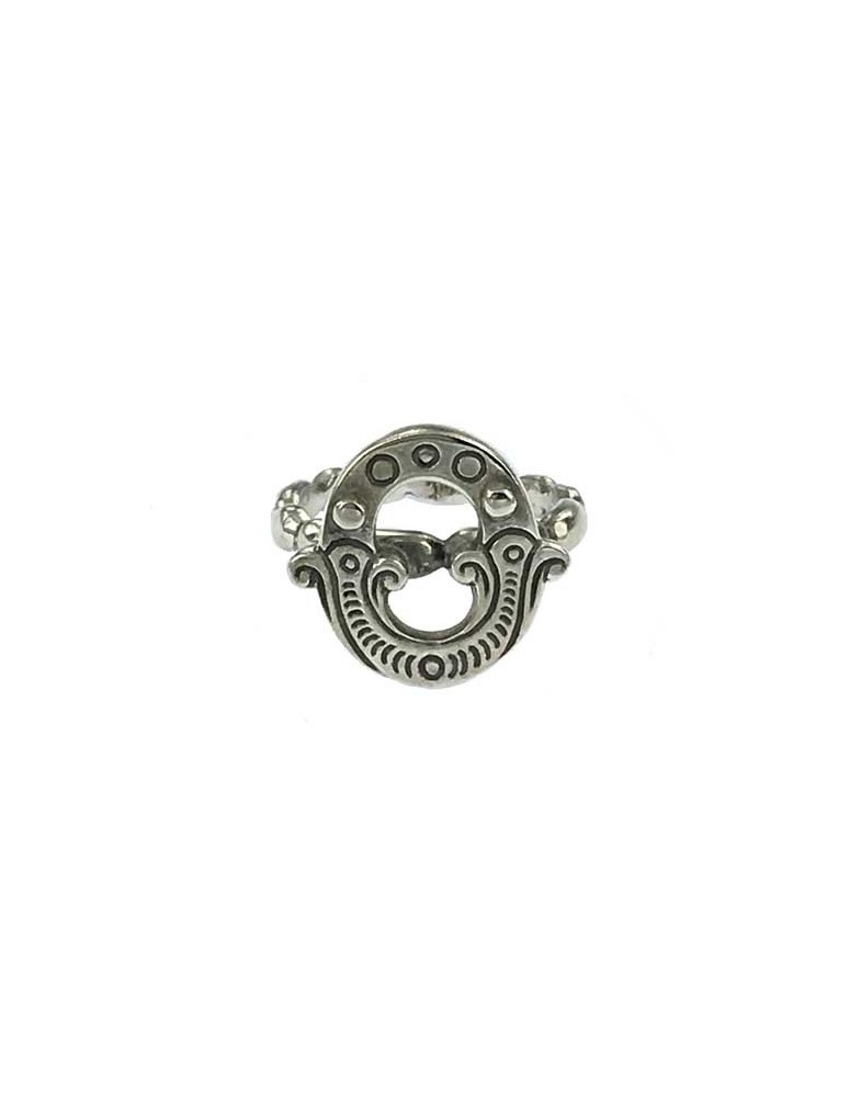 Anello iniziale carosello argento - O