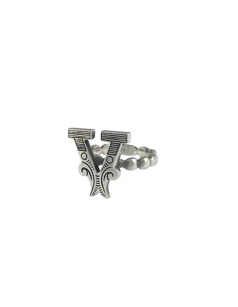 Anello iniziale carosello argento - V