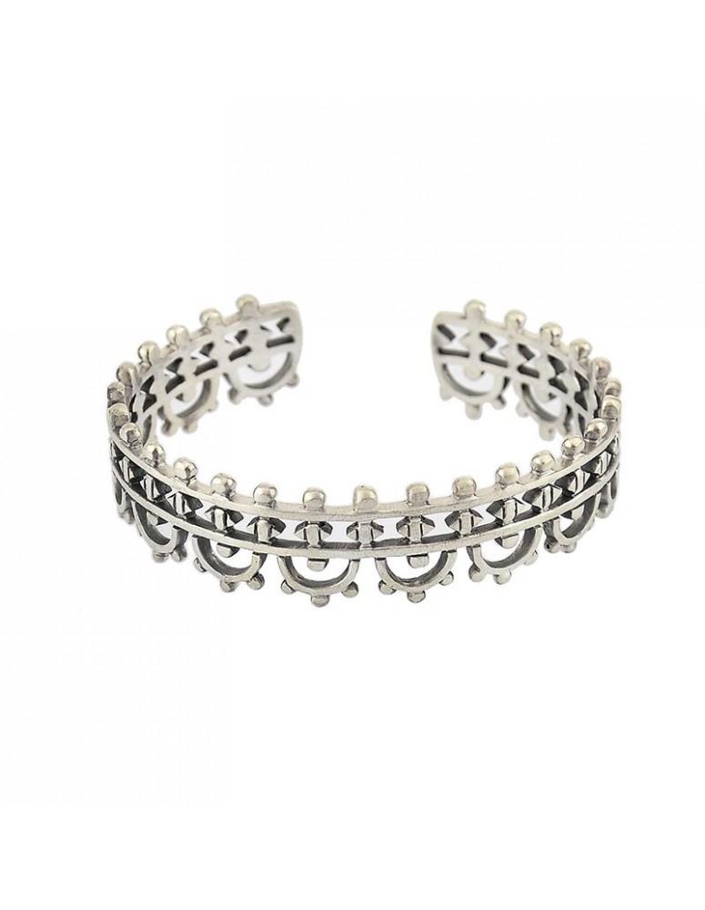 Sterling silver lace bracelet